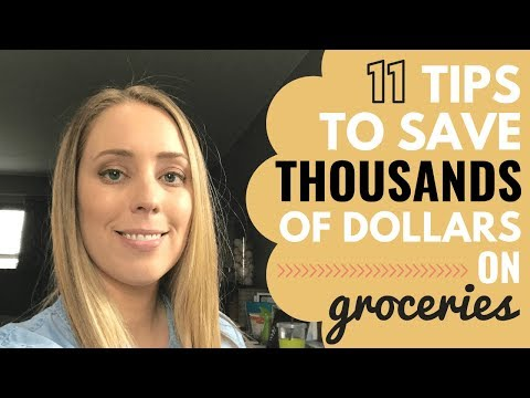 How to save money on groceries - FRUGAL LIVING HACKS // Money saving tips
