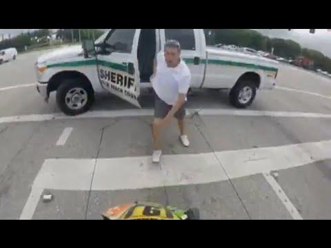 West Palm Beach, FL - Off Duty Deputy Pulls Gun On Biker
