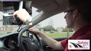 Ian Daly from Safety 1st Driving School talks throughhow to turn on...