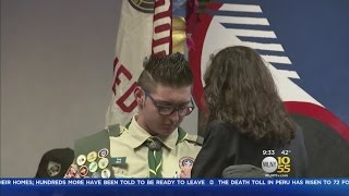 Boy Saved By Family Dog Awarded Eagle Scout Badge