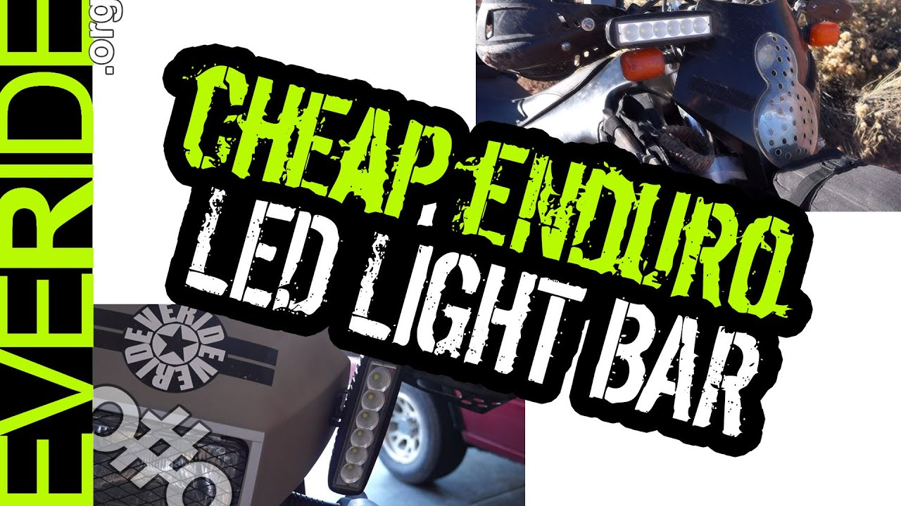 Cheap enduro dual sport led headlight light bar mod review cheap enduro dual sport led headlight light bar mod review details oo youtube aloadofball Choice Image