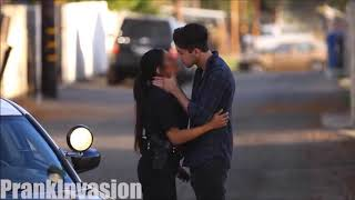 Kissing prank-police Cops Edition