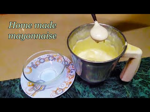 How to make mayonnaise without a blender