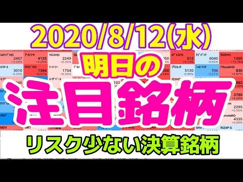 【JumpingPoint!!の10分株ニュース】2020年8月12日(水)