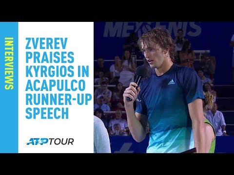 Zverev Dishes High Praise to Kyrgios After Acapulco 2019 Final