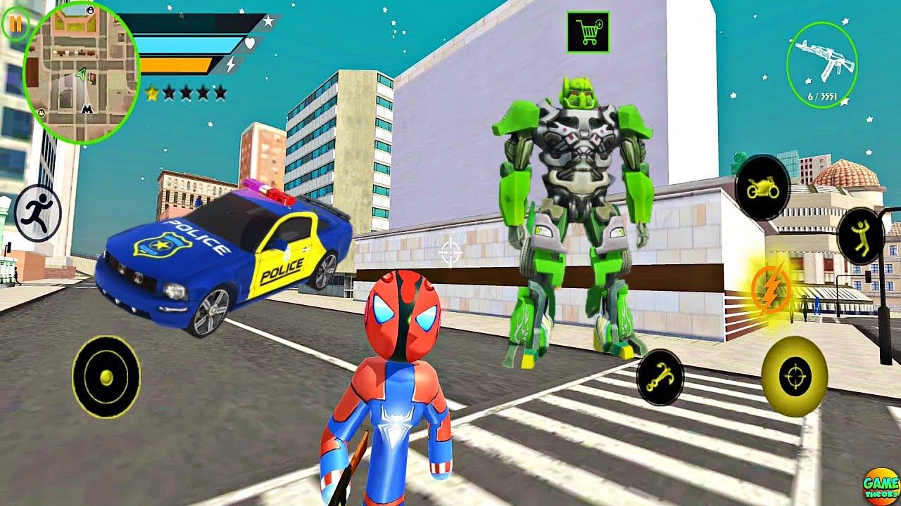 New Game Amazing Spider Robot Stickman Superhero Gangster Vice City Game