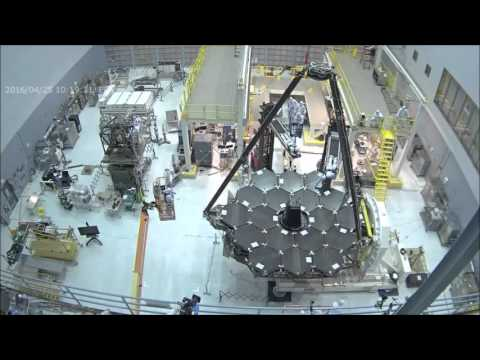 Time-lapse: First Cover Removal - James Webb Space Telescope