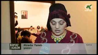 Yazarın yeni kitablarından danışılıb - Kəpəz TV