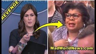 WATCH: As Press Briefing Ends, Sarah Sanders Points To April Ryan & Shocks EVERYONE