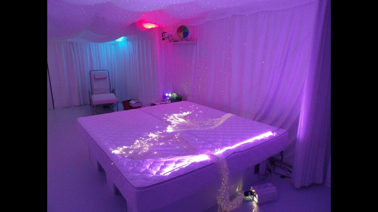 Wasserbett led  Snoezelen, Floating-Bed, Musik-Wasserbett, Wellness-Bett, LED-Bett ...