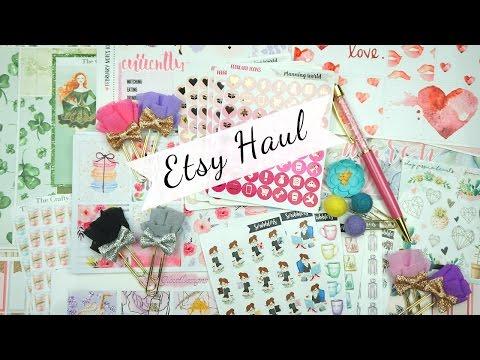 Planner Stickers & Planner Supplies Haul / Etsy Haul
