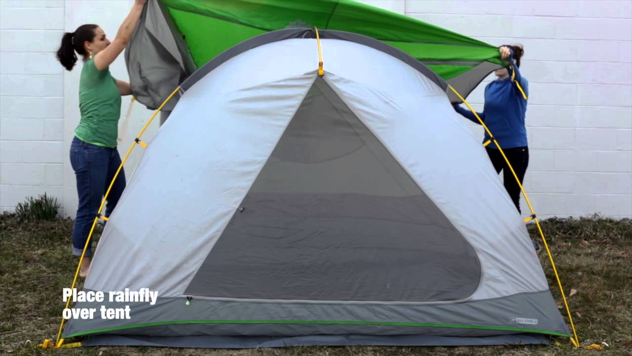 How to set up the EMS Big Easy 4 Tent & How to set up the EMS Big Easy 4 Tent - YouTube