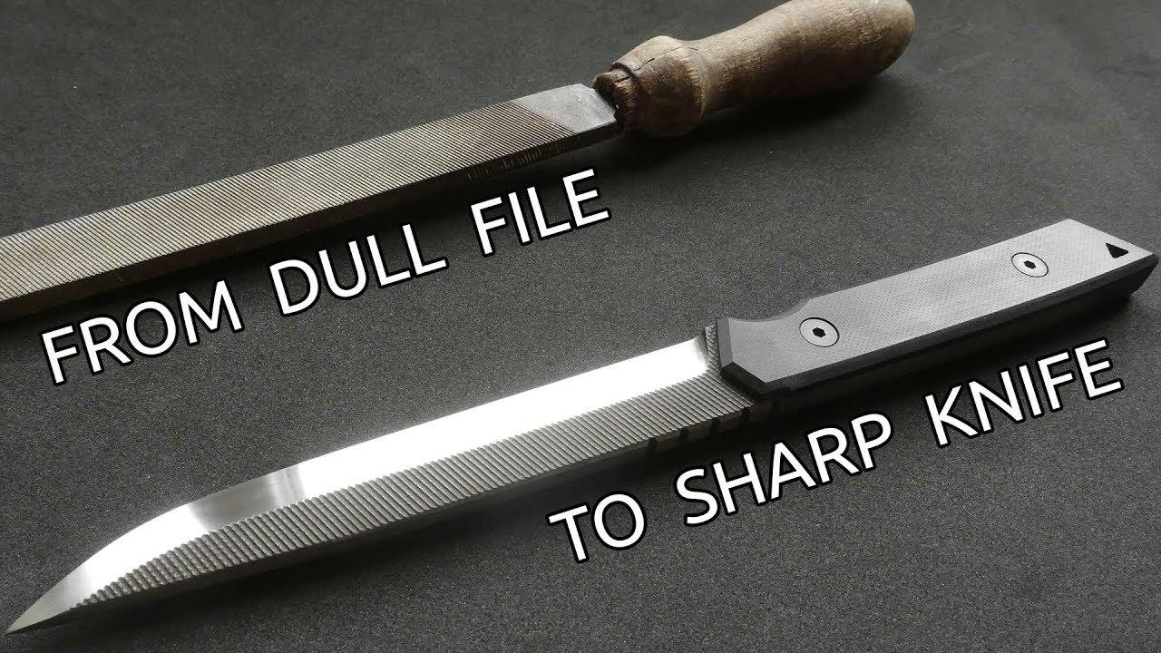 Как да направим един страхотен нож от старата пила!