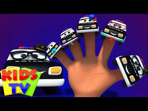 Police car finger family 3d rhymes baby songs kids tv S02 EP0219