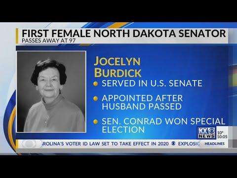 First Female North Dakota Senator, Jocelyn Burdick Passes Away at ...