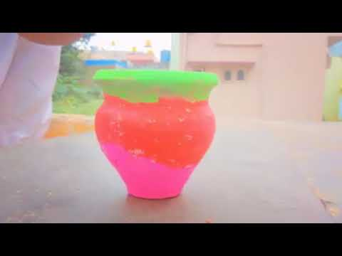 Deepak school POT PAINTING