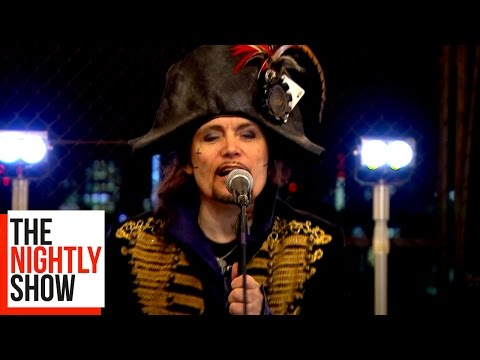 Adam Ant Performs Live on The Nightly Show Rooftop