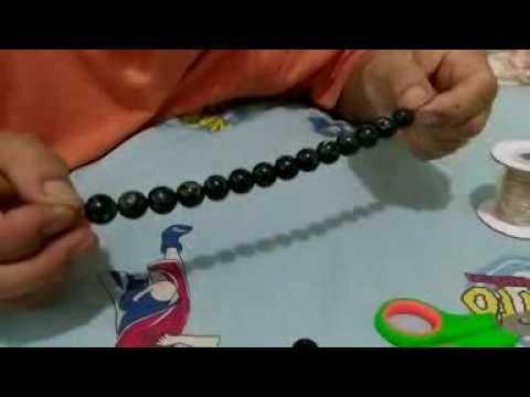 cara merangkai mengikat gelang batu black jade
