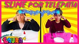 SLIME POR TELEPATIA ENTRE LAURINHA E MAMÃE (TWIN TELEPATHY SLIME CHALLENGE)