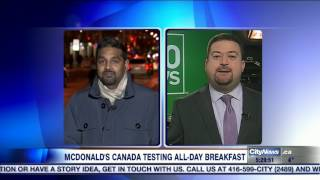 Business report: McDonald's Canada testing all-day breakfast