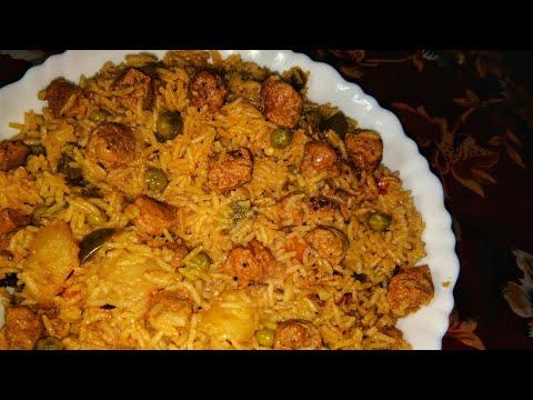 Soya bean pulao recipe  Soya pulao in pressure cooker  Pulao recipe Your Videos