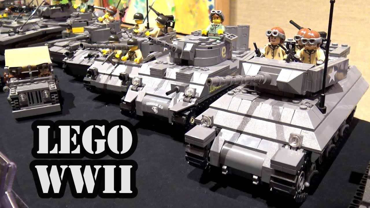 100+ Custom LEGO WWII Vehicles by Brickmania