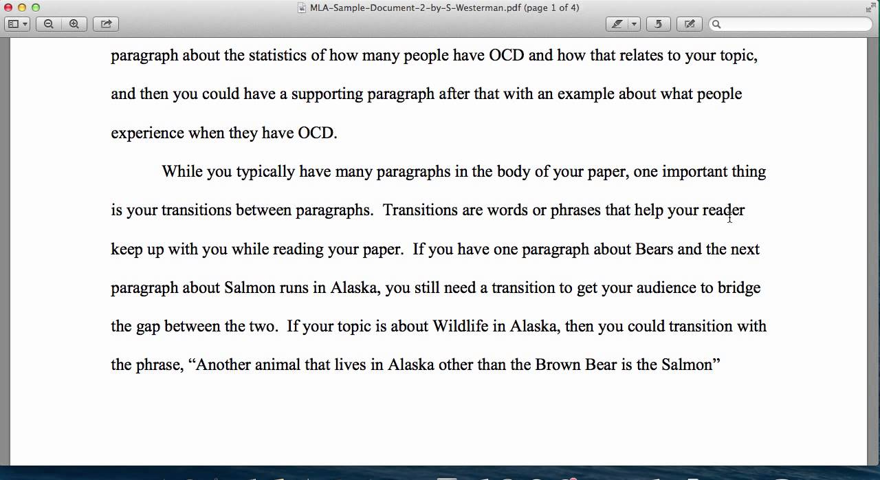 transition to start a paragraph