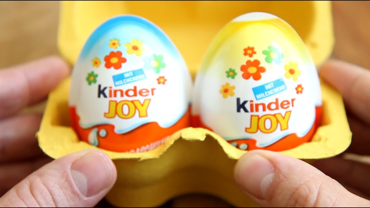 Kinder Joy Surprise Two Eggs - Two Surprise Toys - YouTube