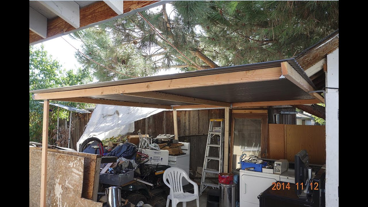 How to Put a Simple Shed   Perfect Patio Roof Cover For Sheru     How to Put a Simple Shed   Perfect Patio Roof Cover For Sheru   Bruno Lazy  Co Worker   YouTube