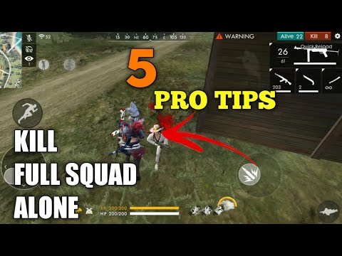 FREE FIRE | HOW TO KILL ALONE | PRO TIPS AND TRICKS FREE FIRE