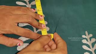 Stylish Churidar Top Cutting Simple Method Part - 1