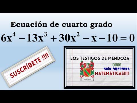 Ecuación de Cuarto Grado. Ejercicio 2