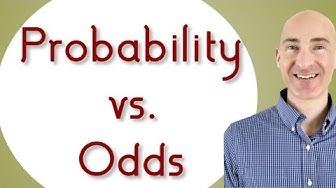 Probability vs Odds