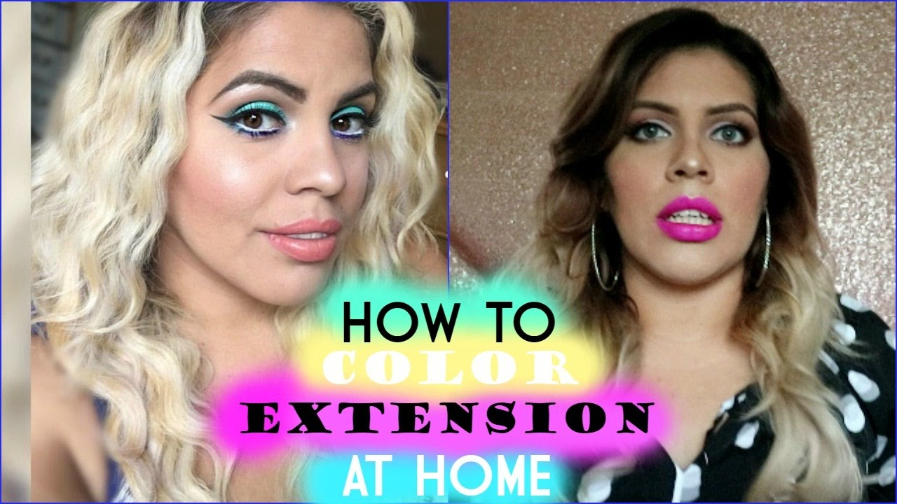How to color hair extensions at home youtube how to color hair extensions at home pmusecretfo Gallery