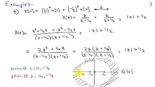 Poles and Zeros of z-Transforms