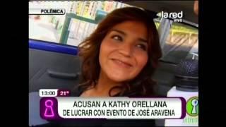 Kathy lucra con evento de José Aravena