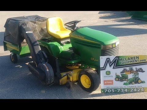 John Deere Gx345 Bagger Mower