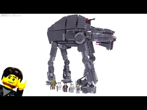 LEGO Star Wars The Last Jedi First Order Heavy Assault Walker review! 75189