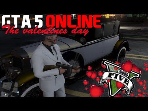 GTA 5 ( GTA V ) ONLINE l THE VALENTINES DAY l CARRO - ROUPAS E ARMA