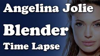 Angelina Jolie - Blender Timelapse
