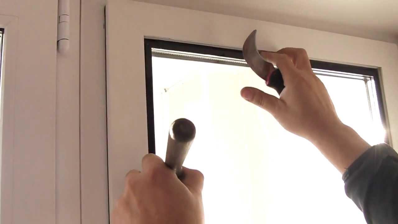 Замена стеклопакетов в пластиковых окнах видео
