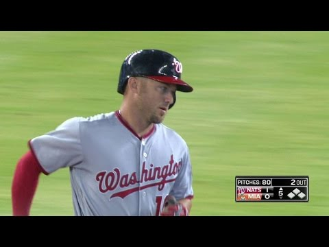 WSH@MIA: Raburn launches his first Nats homer to left