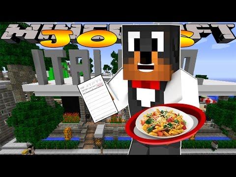 Minecraft - Donut the Dog Adventures - WAITER JOB IN ITALIANO!!!!