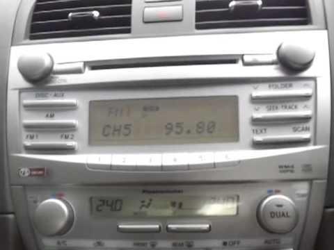Camry Radio Display Problem