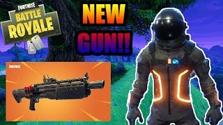 Fortnite Battle Royale - **NEW GUN** HEAVY SHOTGUN GAMEPLAY!! - NEW DARK VOYAGER SKIN!!