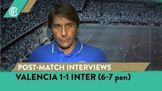 VALENCIA 1-1 INTER (6-7 pen) | CONTE + POLITANO + LAUTARO + BASTONI INTERVIEWS [SUB ENG]