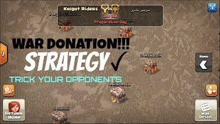 War Donation Strategy | Clash Of Clans | Knight Riders