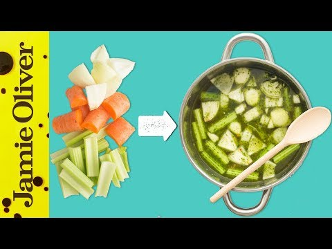 How To Make Vegetable Stock   1 Minute Tips