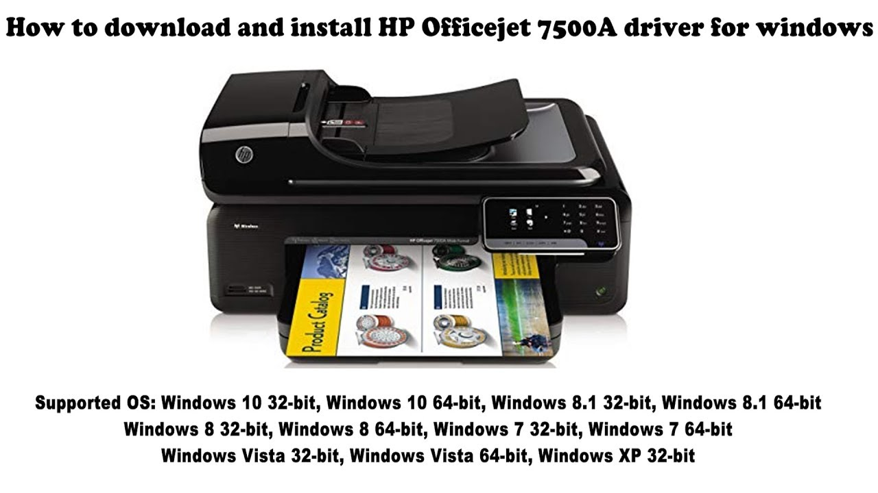 HP Officejet 7500A driver and software Free Downloads
