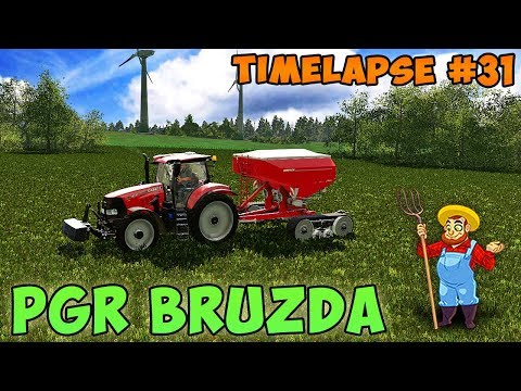 FS 17 | PGR Bruzda with Seasons | Timelapse #31 | Fertilizer grass fields, sowing soybeans...